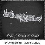 map of crete as chalkboard  in... | Shutterstock . vector #229526827