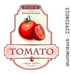ripe tomato and a cut piece of... | Shutterstock . vector #229528015