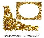 golden frame with baroque... | Shutterstock . vector #229529614