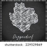 Map Of Deggendorf As Chalkboar...