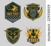 auto and moto racing emblem set ... | Shutterstock .eps vector #229530019