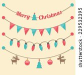 fairy party christmas light... | Shutterstock .eps vector #229532395