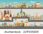 set of buildings in the style... | Shutterstock .eps vector #229535005