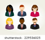 social media business users... | Shutterstock .eps vector #229536025