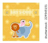 baby shower invitation. vector | Shutterstock .eps vector #229545151