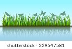 butterflies in grass | Shutterstock .eps vector #229547581