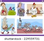 illustration set of humorous... | Shutterstock . vector #229559731