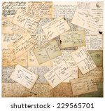antique postcards. old... | Shutterstock . vector #229565701