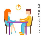 speed dating illustration of... | Shutterstock .eps vector #229571767