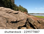 large sandstone boulders on the ... | Shutterstock . vector #229577887