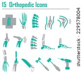 15 orthopedic and spine symbol  ... | Shutterstock .eps vector #229578004