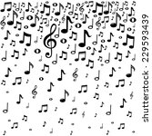 Music Notes Background.  Vecto...