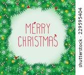 merry christmas vector border | Shutterstock .eps vector #229595404