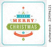 christmas tree typography from... | Shutterstock .eps vector #229596121