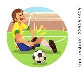 injured soccer player soccer... | Shutterstock .eps vector #229597459