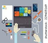 flat design elements | Shutterstock . vector #229605169