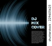 dj mix cover with music... | Shutterstock .eps vector #229605625