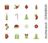 christmas icons set. raster... | Shutterstock . vector #229608034
