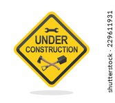 sign under construction with... | Shutterstock .eps vector #229611931