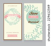 wedding card template with... | Shutterstock .eps vector #229612549