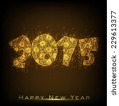 happy new year 2015 greeting... | Shutterstock .eps vector #229613377