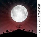full moon illustration with... | Shutterstock .eps vector #229613887