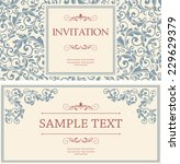set of retro invitations or... | Shutterstock .eps vector #229629379