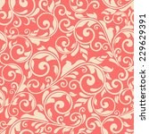 seamless victorian pattern on... | Shutterstock .eps vector #229629391