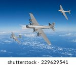 wwii us bomber formation of the ...