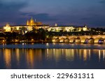charles bridge and prague... | Shutterstock . vector #229631311