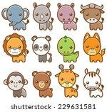 vector illustration of cartoon... | Shutterstock .eps vector #229631581