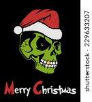 zombie santa claus | Shutterstock .eps vector #229633207