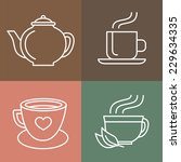 Vector Tea And Coffee Logo...