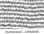 music note fabric texture | Shutterstock . vector #22963450