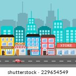 Small Town Urban Landscape In...