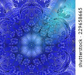 quadrate blue ornament for... | Shutterstock .eps vector #229658665