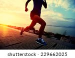 runner athlete running at... | Shutterstock . vector #229662025