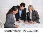 business team of man and woman... | Shutterstock . vector #229663831
