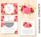 wedding invitation cards with... | Shutterstock .eps vector #229665379