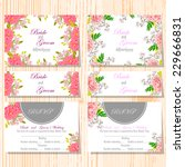 wedding invitation cards with... | Shutterstock .eps vector #229666831