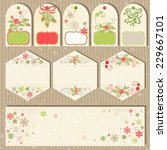 collection christmas labels in... | Shutterstock .eps vector #229667101