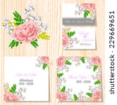 wedding invitation cards with... | Shutterstock .eps vector #229669651