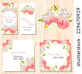 wedding invitation cards with... | Shutterstock .eps vector #229670929