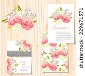 wedding invitation cards with... | Shutterstock .eps vector #229671571