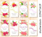 wedding invitation cards with... | Shutterstock .eps vector #229671619