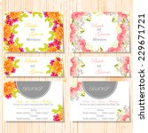 wedding invitation cards with... | Shutterstock .eps vector #229671721