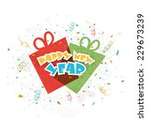 stylish text happy new year... | Shutterstock .eps vector #229673239