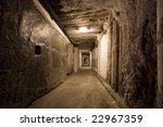 Corridor In Salt Mine In...