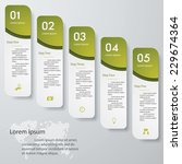 design clean number banners... | Shutterstock .eps vector #229674364