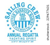 marine regatta typography  t... | Shutterstock .eps vector #229677631